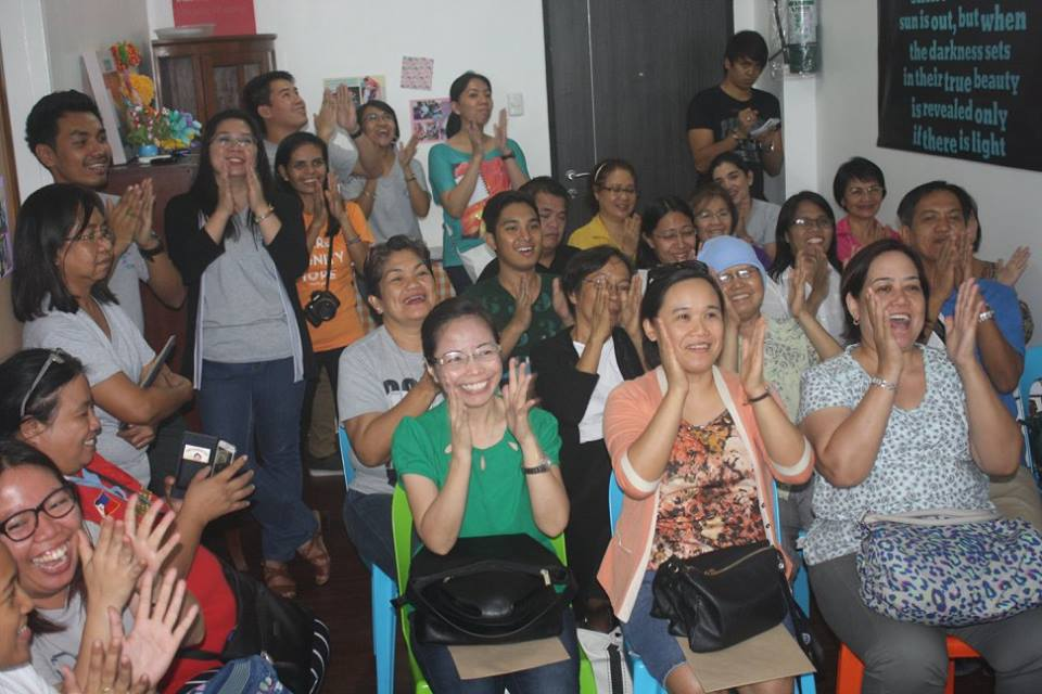 Laughter Yoga session during the TRF Open House last August 2015