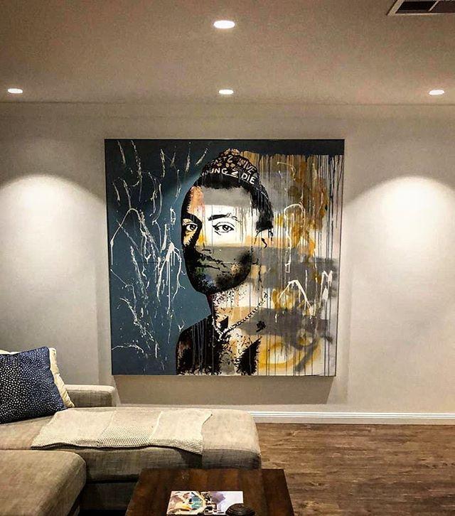 This @samsmith piece original hanging in this Bondi home... 🙌🙌🙌 @johankrynauw  @carolinebreure  #streetart #art #artporn #samsmith #bondi #wallart
