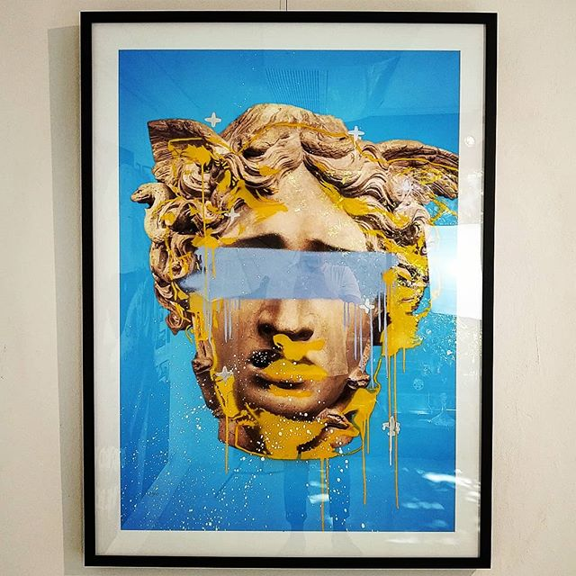 My Medusa Series - 134cm x 103cm framed.  Acrylic and Spray on printed Tyvek.  I am blessed that this series was loved so much! Time to do a new series as these have all been picked up!
