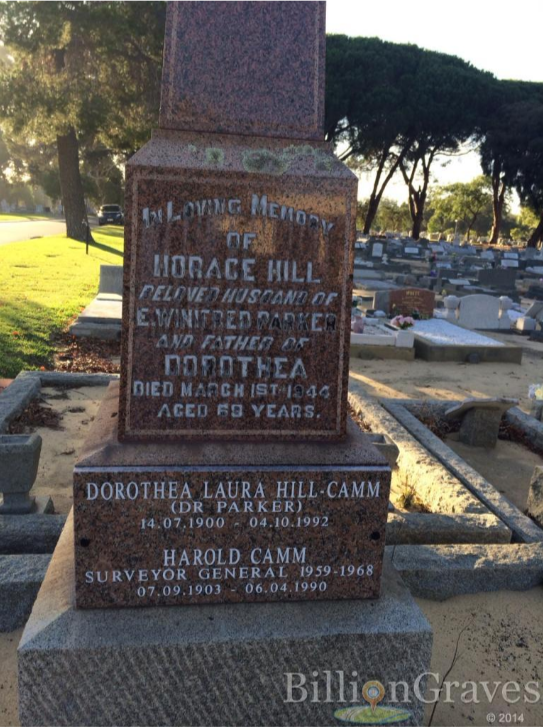 Grave of H Parker and Dorothea Camm, Fremantle Cemetery