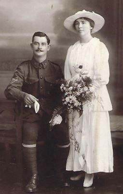 Wedding Archibald Bathgate and Ida Margaret King 1917