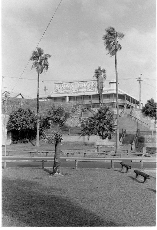 """Jack Sheedy's Plympton Hotel, East Fremantle."" Image courtesy of State Library of Western Australia.   http://purl.slwa.wa.gov.au/slwa_b3878559_1"