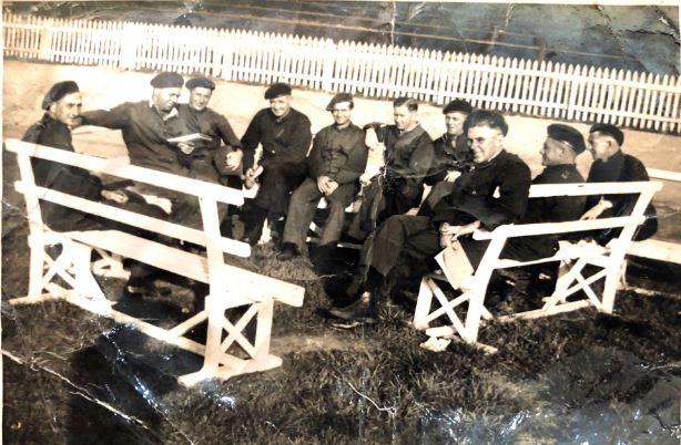 George Wenham far left,  during WWll