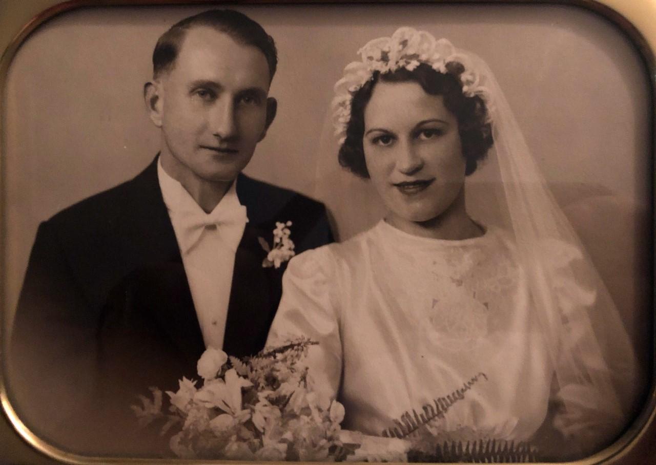 George and Dagmar Wenham wedding photo