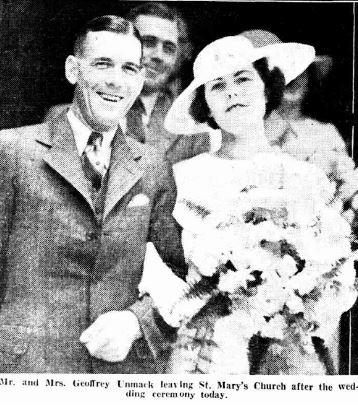 Geoffrey Unmacks wedding 1934