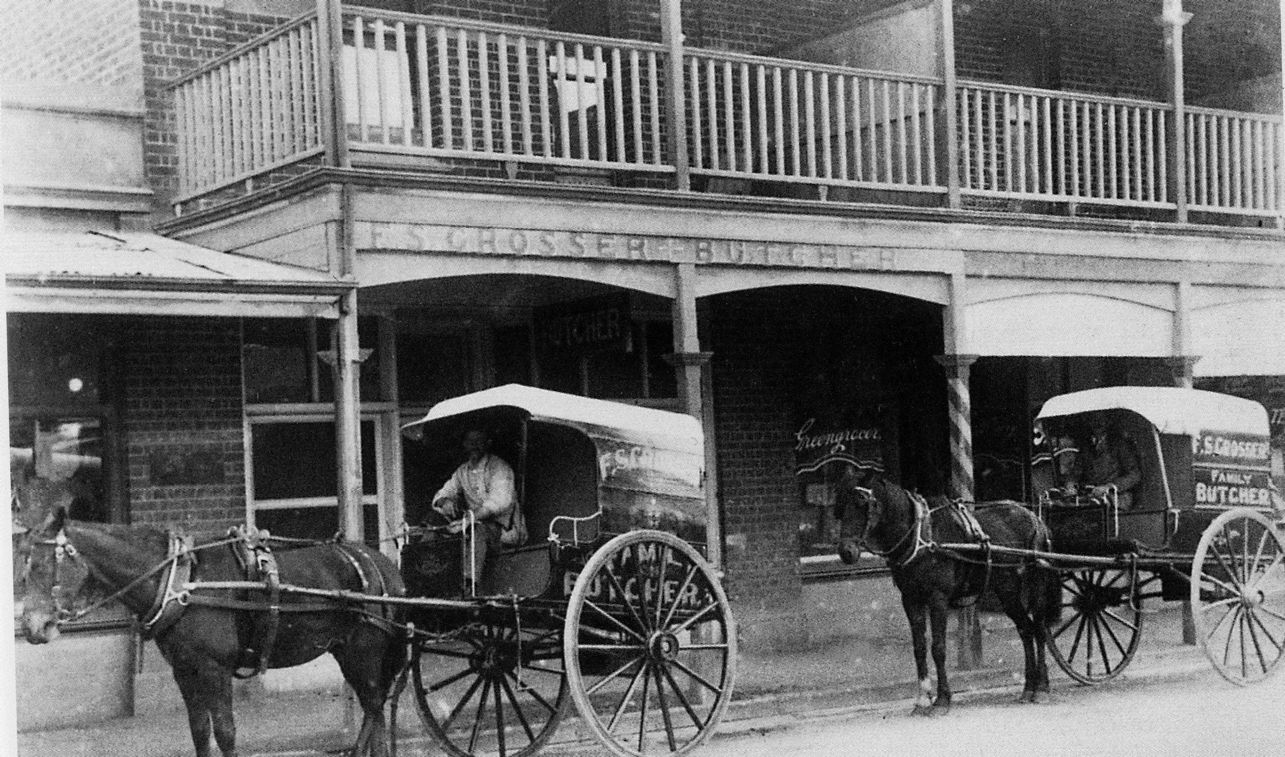 81 George St- Fred Grosser Butcher Shop and delivery carts, Battye library 67698P
