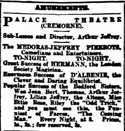 Cremorne show 1905