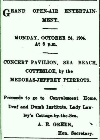 Medoras-Jeffrey Pierrots  1904