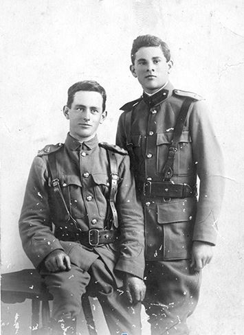 Cyril (standing) & Roy Bennett  (1914 or 1915)