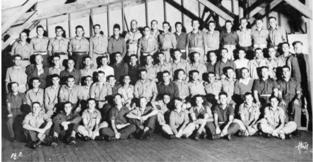 Cyril Arthur Bennett 2nd row 9th from left 108 Australian Casualty Clearing Station (year unknown)