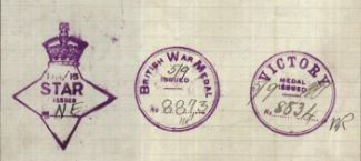 AIF Medals stamps