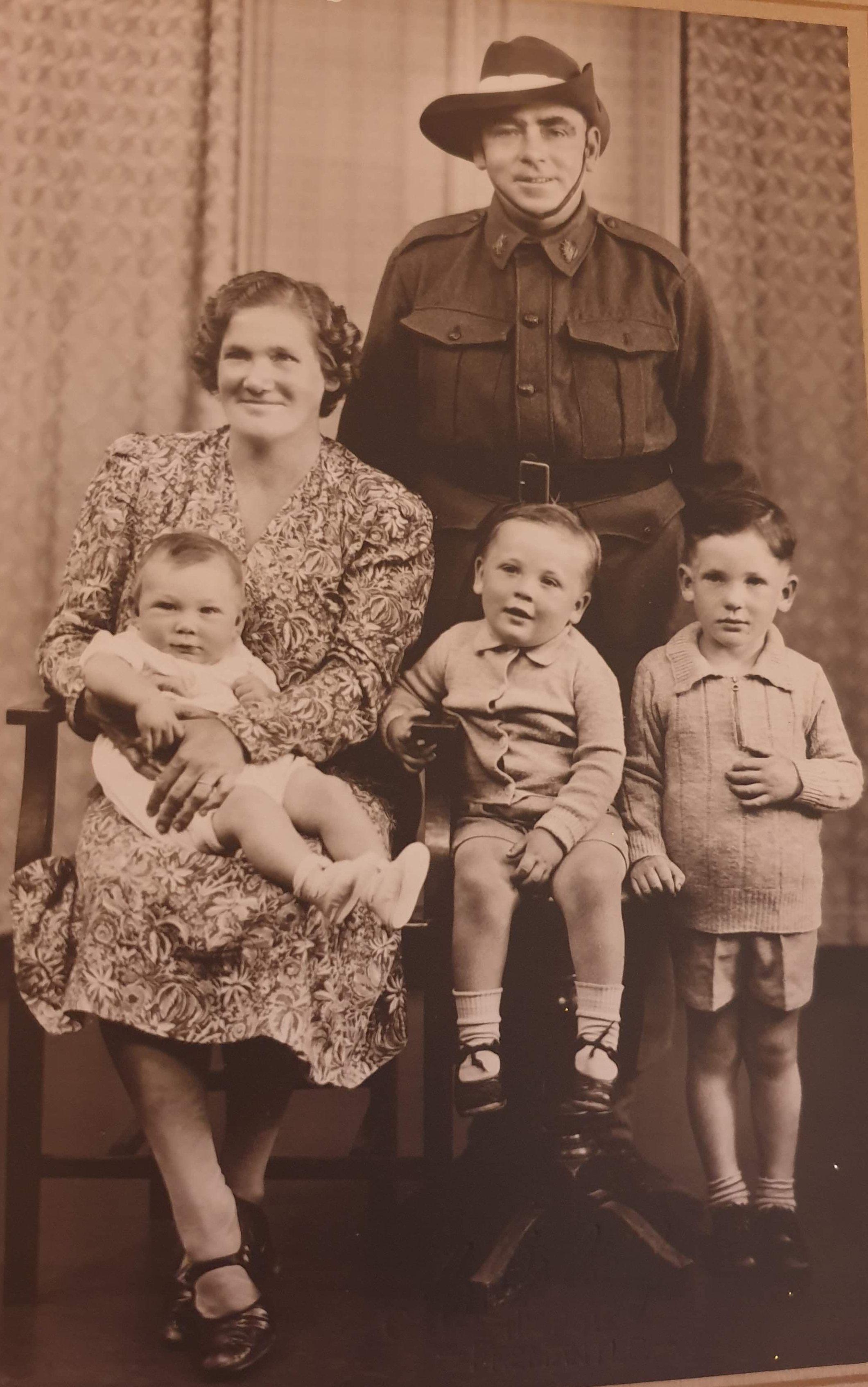 Irene and family c 1945
