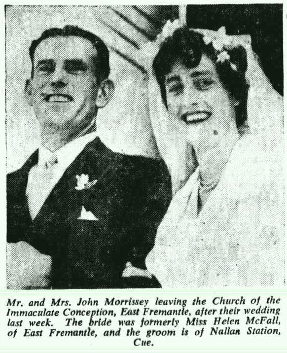 1951 Wedding Helen McFall