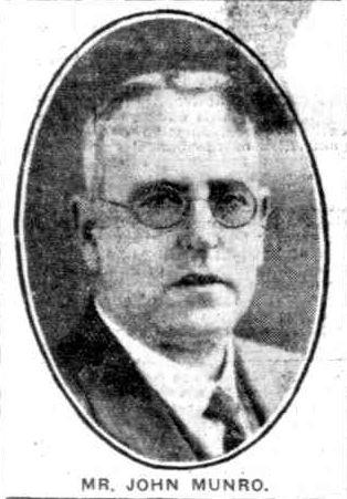 John Munro Mayor 1933