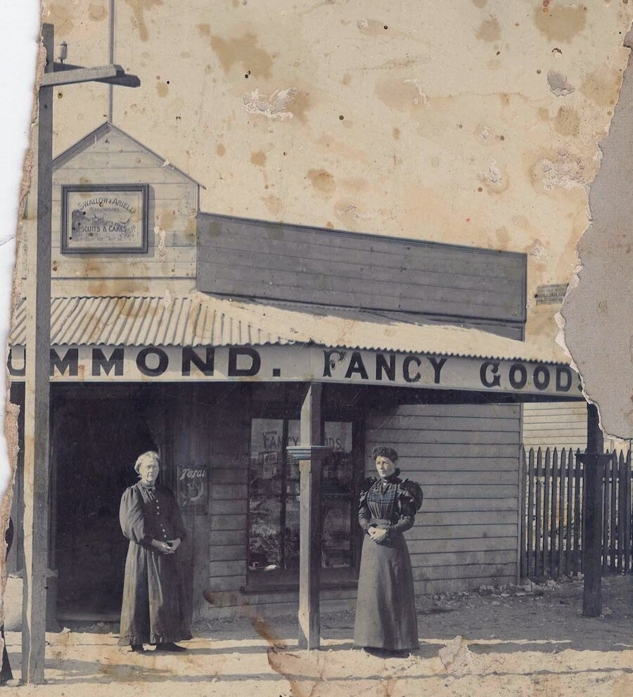 Drummond store c 1900 Matilda and her mother