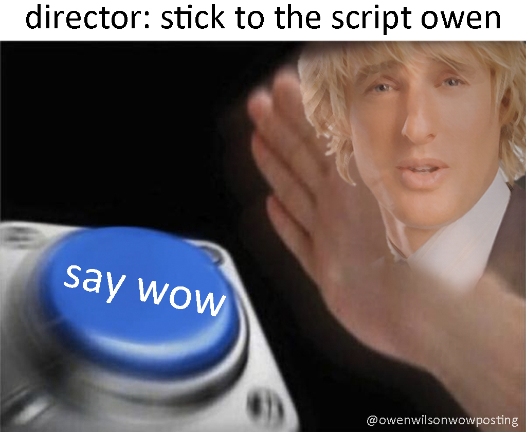 Example of an Owen Wilson meme