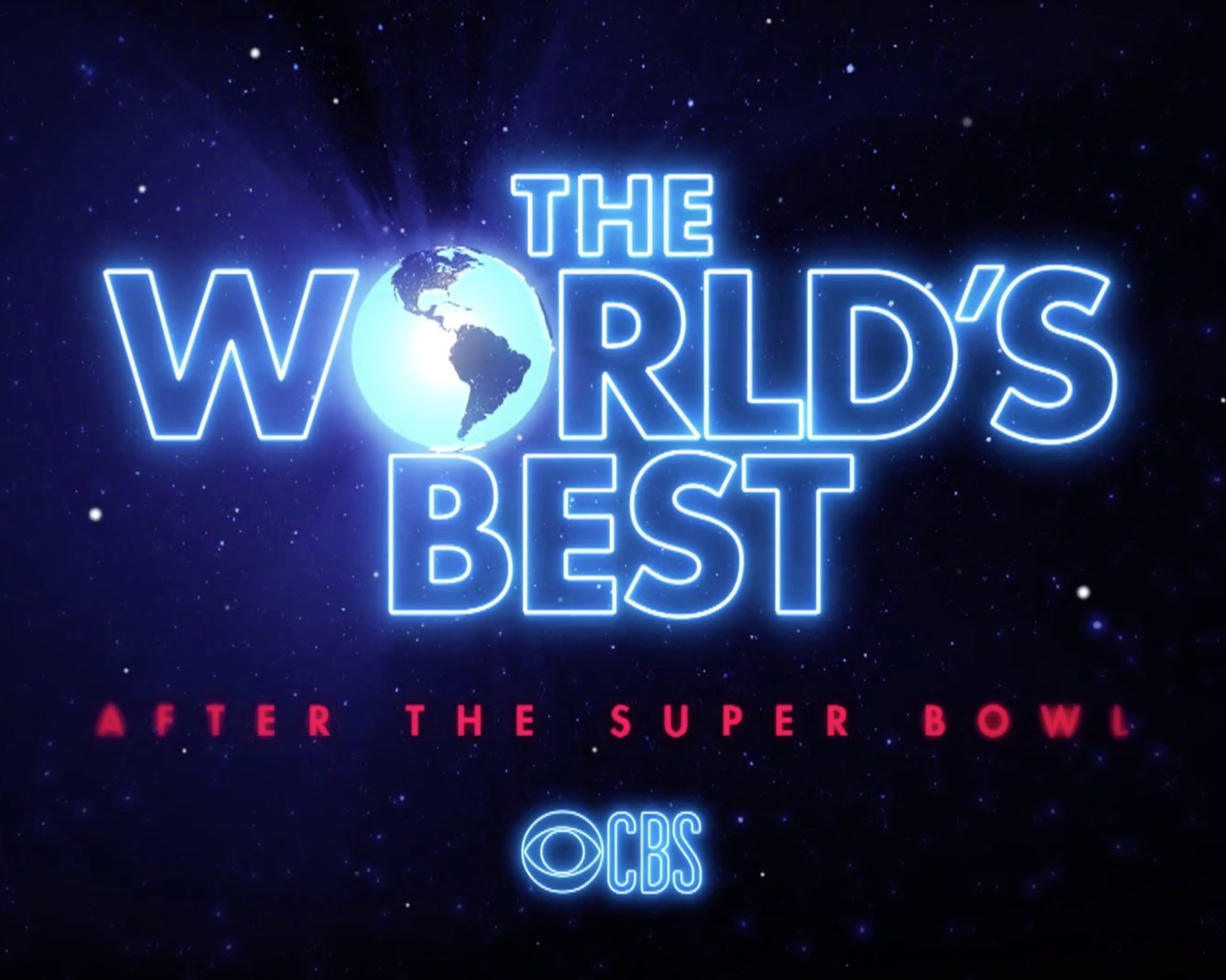 "The World's Best CBS - ""With the new year comes a new must-watch reality competition show—and The World's Best is nothing like you've ever seen before!""Hosted by James Corden with judges Drew Barrymore, RuPaul Charles, and Faith Hill, Stuart MacLeod will feature as an expert judge.Watch the season kick off right after the Super Bowl!"