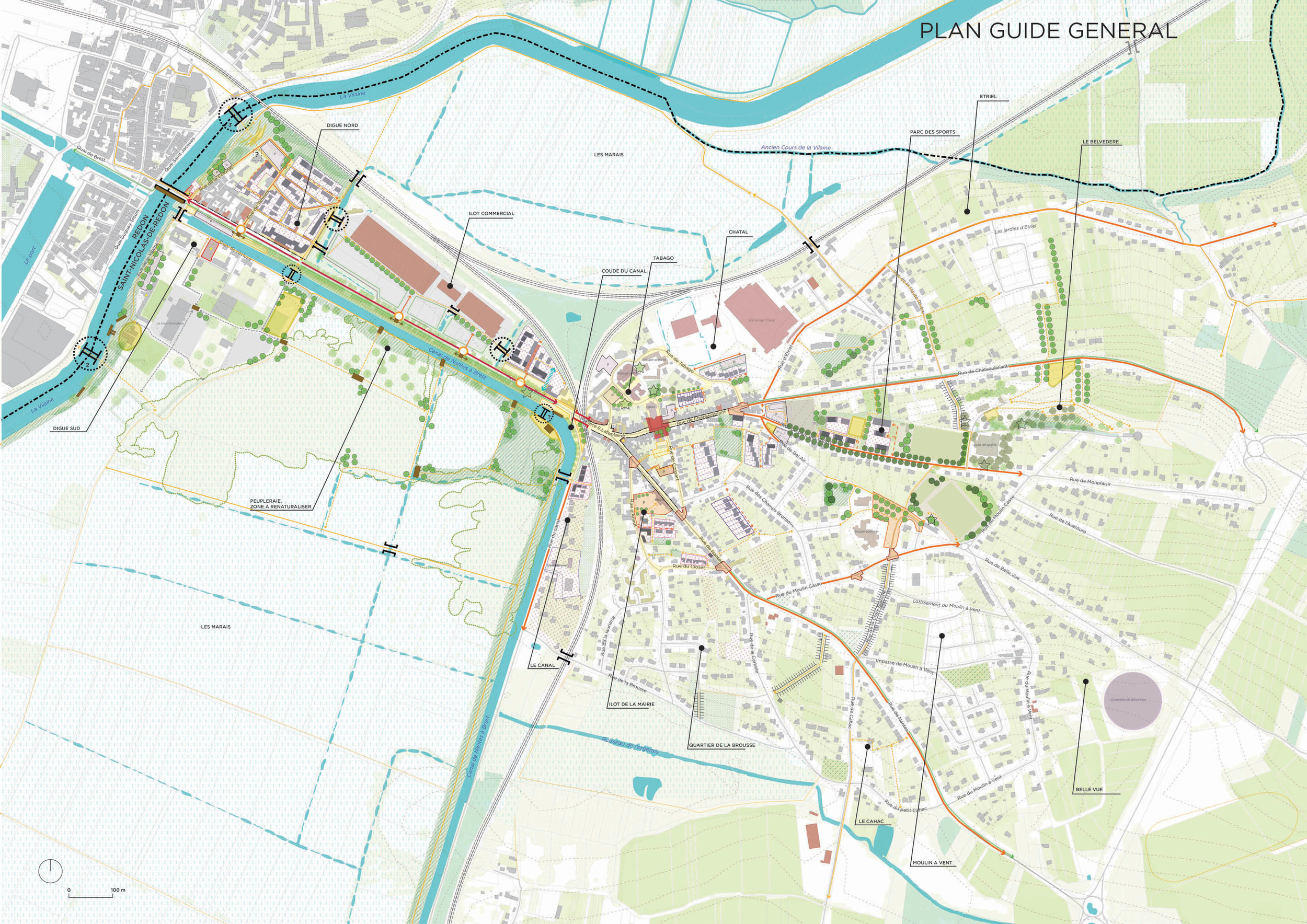 Le plan guide de Saint Nicolas-De-Redon