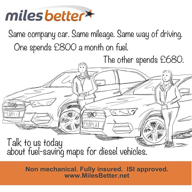 Same car. Same mileage. Same driver. One pays 15% less for fuel. Ask us about remaps for your diesel vehicle! . . #remap #greenbusiness #engine #milesbetter #inclusive #madaboutcars #savemoney #moneysaving #moneysavingtops #dieselemissions #lowerco2 #pollution #autolove #fleetmanagement