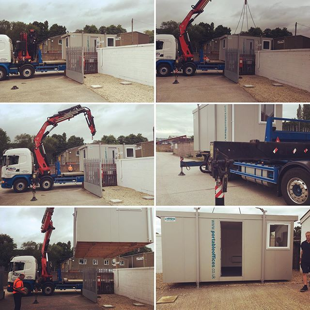 New office arriving on site today! Fascinating to watch delivery. Thanks @portable_offices for a great service! . . #madaboutcars #portableoffice #milesbetter #amazingspaces #awesome #office