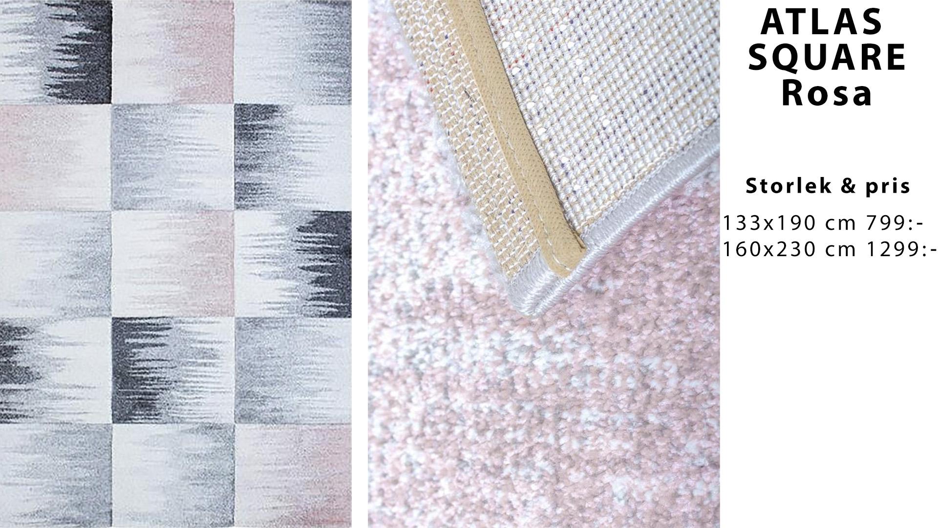 Atlas square rosa matta