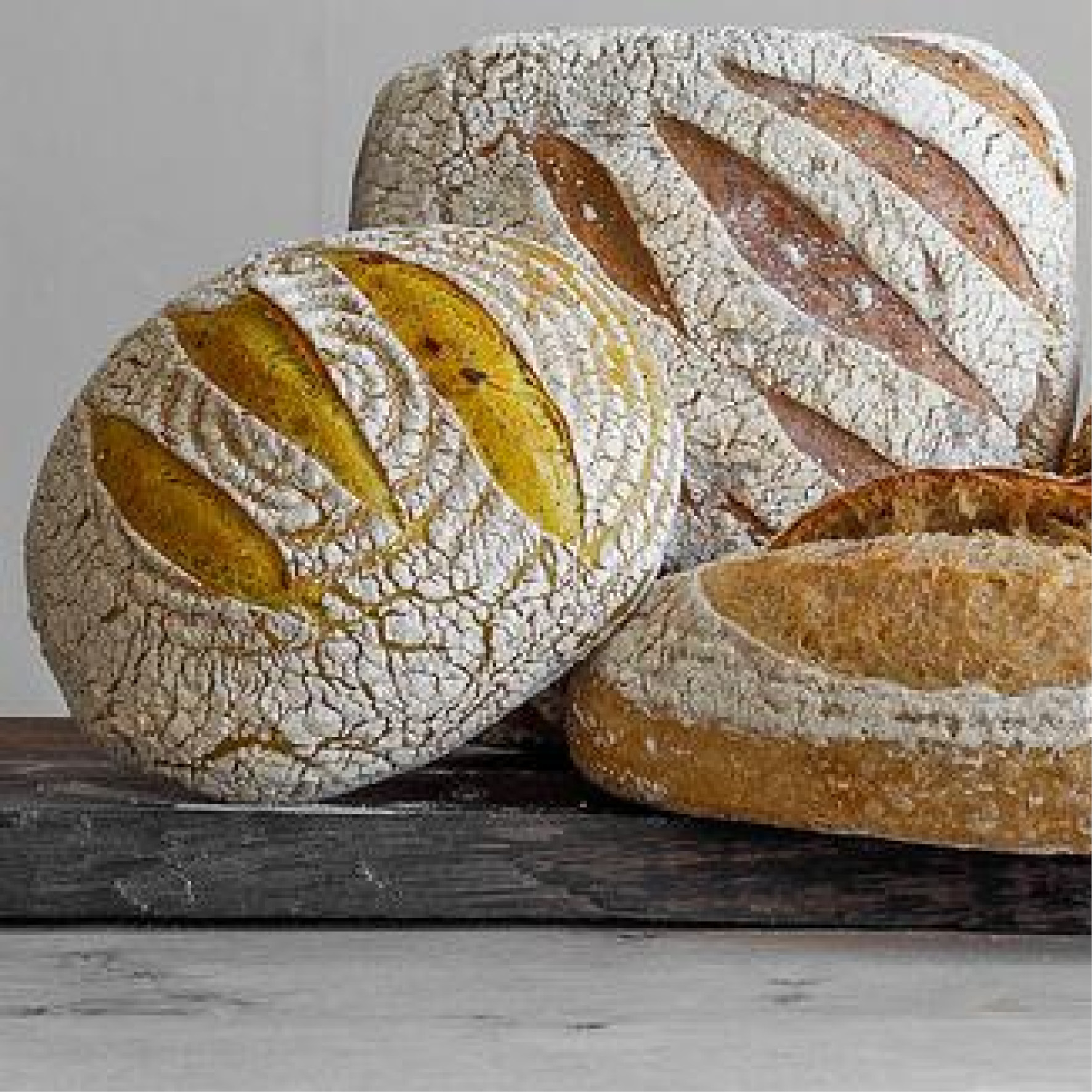 All of our bread comes from  Hobbs House bakery  The Organic Turmeric Sourdough is amazing! A handcrafted loaf, fermented for 14 hours! And we also have the award winning Gluten free loaf!