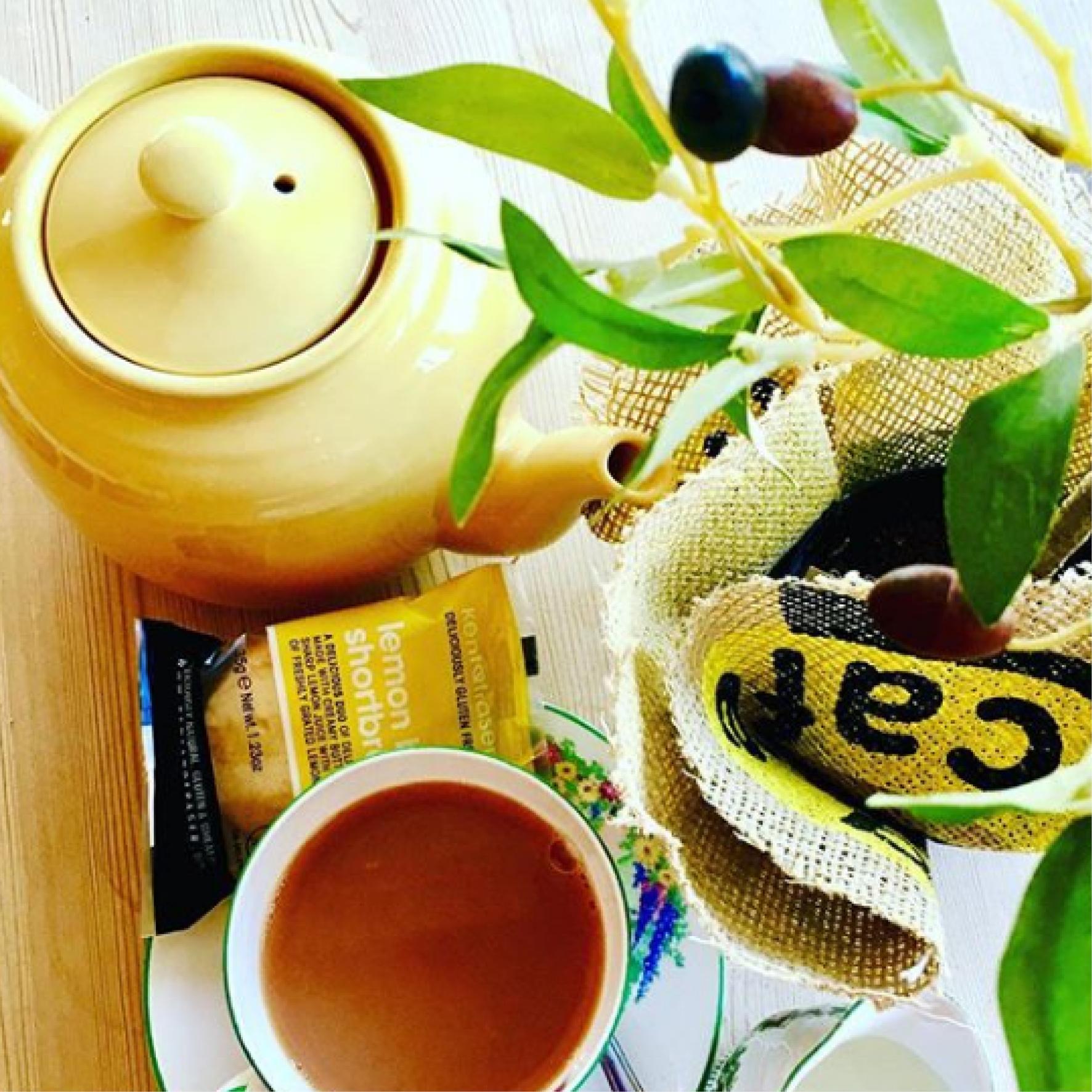 English Breakfast and Herbal Teas