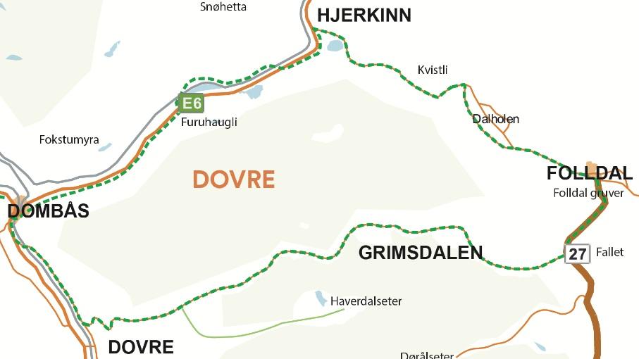 Kart over Tour de Dovre