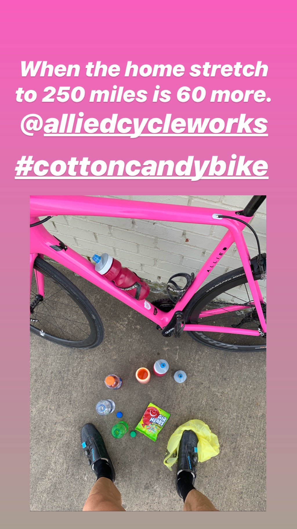 250 mile bike ride with candy