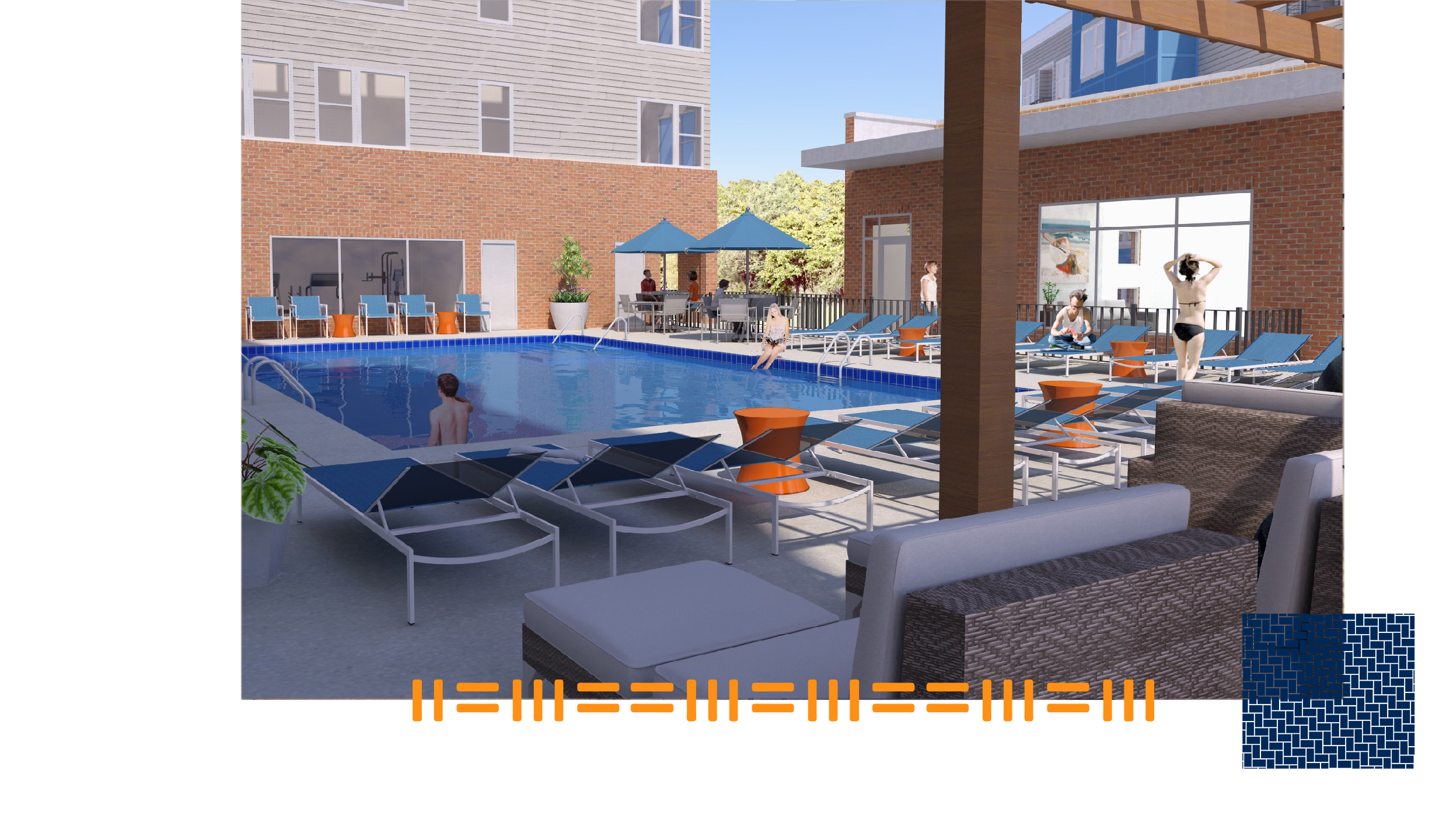 ONSITE POOL - Residents of The Longview will have access to an onsite pool to enjoy during the hotter months in Raleigh.