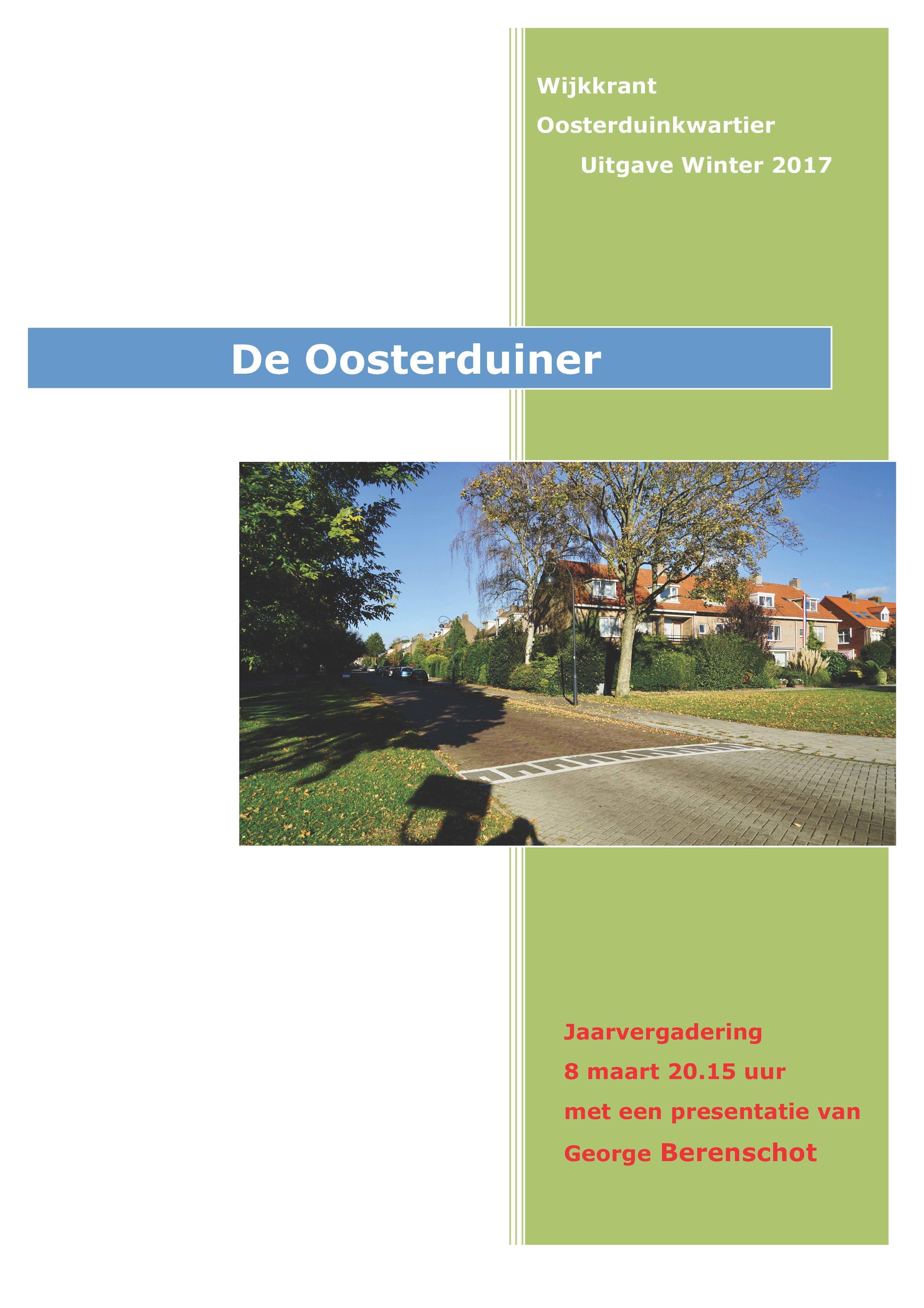Wijkkrant winter 2017 - Wijkkrant Oosterduinkwartier - uitgave Winter 2017