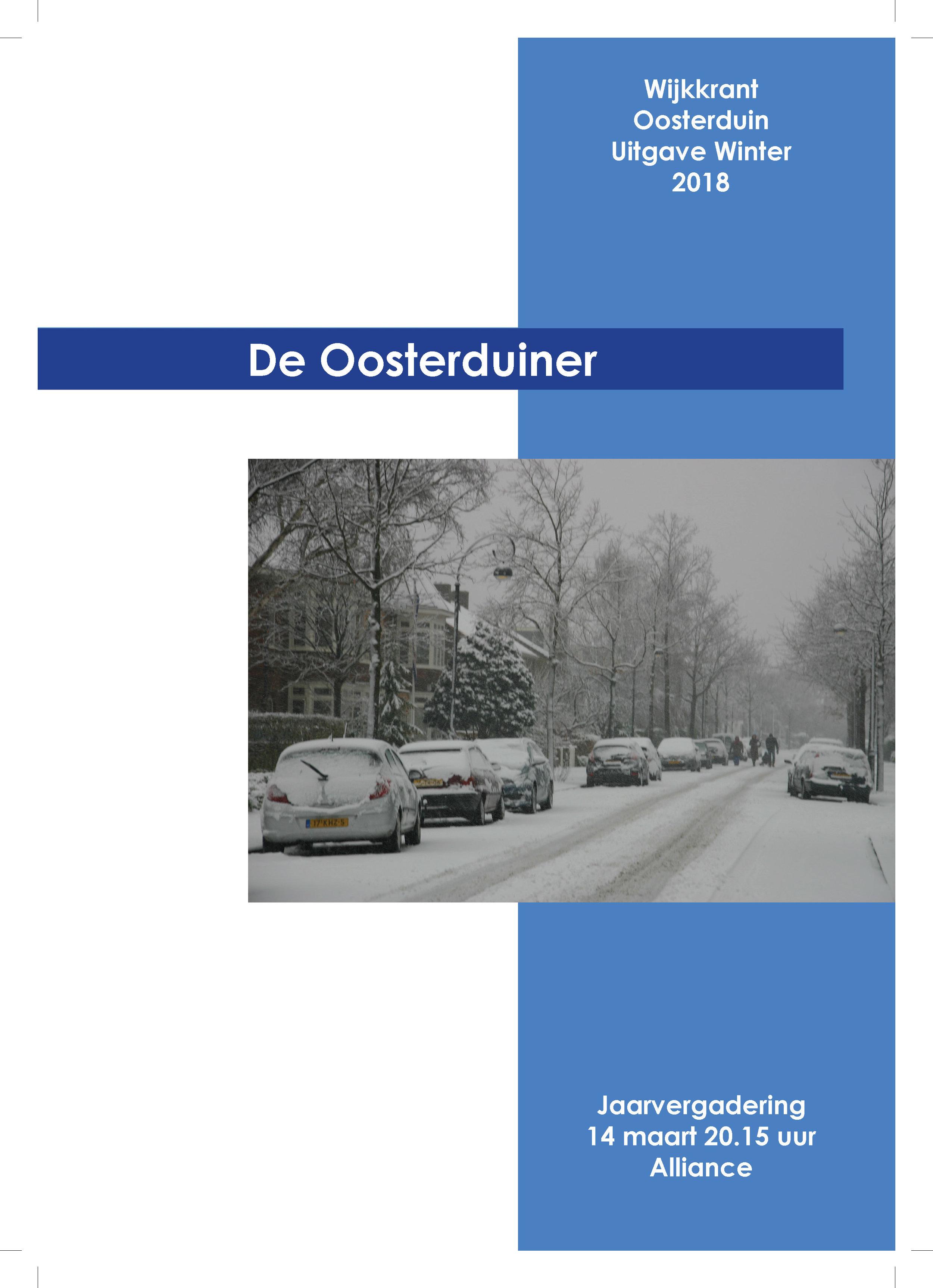 Wijkkrant winter 2018 - Wijkkrant Oosterduinkwartier - Uitgave Winter 2018
