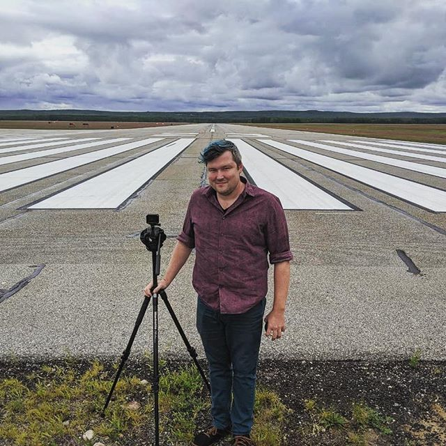 Filming music videos today on the runway! More pics to come. #theaccidentals #filmmaking #gopro #musicvideos