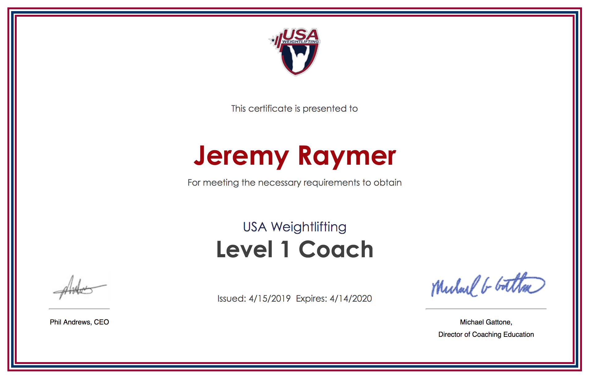 Top 3 Lessons Learned At The Usa Weightlifting Certification Course Raymer Strength