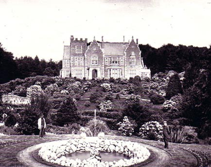 """The house and front """"lawn"""" probably around 1880"""