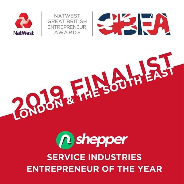 Absolutely great news 👊. The Shepper Team are extremely happy to be shortlisted for the NatWest Great British Entrepreneur Awards: Service Industries Entrepreneur of the Year! Thank you to an awesome team for making this happen. We are all looking forward to the next steps! 🎇🎉⠀ ⠀ @entrepreneursgb #GBEA #GBEAFinalist  #entrepreneurawards #shepperteam #GBEAFinalists #takingcareofbusiness #londonstartup #startup #journorequest #startupawards #journorequests