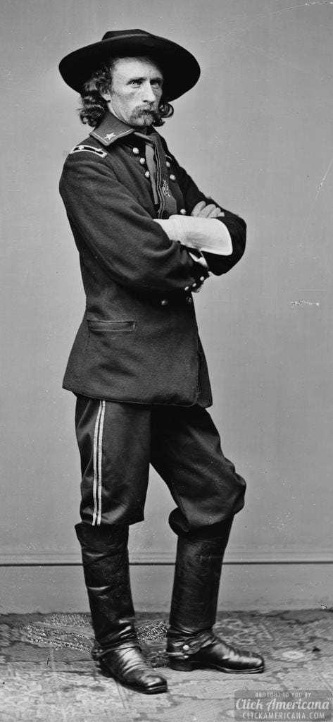 General George A. Custer: 1865 © Click Americana www. clickamaricana.com