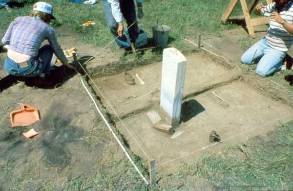 1984, excavating remains on Last Stand Hill