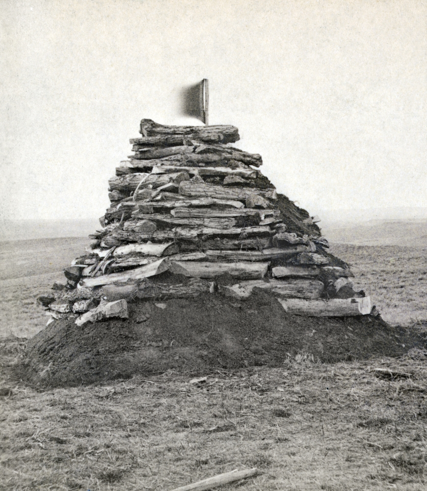 The original memorial built by Captain Sanderson August 1876