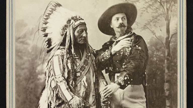 Until his death Sitting Bull was part of Buffalo Bills Wild West show. Where inaccurate reenactments of the battle were shown to the public, and Chief Sitting bull played himself.