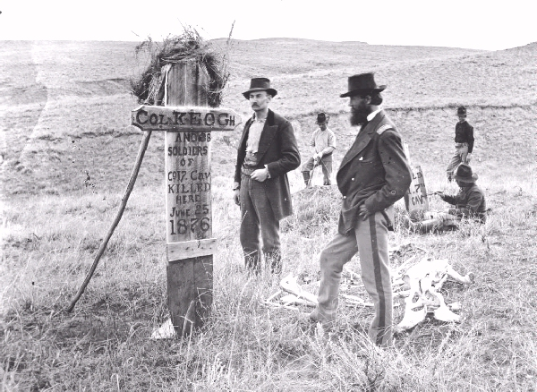 Catpain Sanderson and the Colonial Kehoe memorial on Little Bighorn August 1876