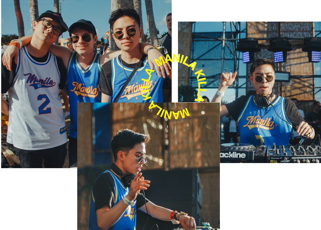 Manila Killa - The EDM DJ did a rebrand in 2018 with a vintage sports look. We collaborated on custom basketball jerseys and jackets for his fans at concerts and online.