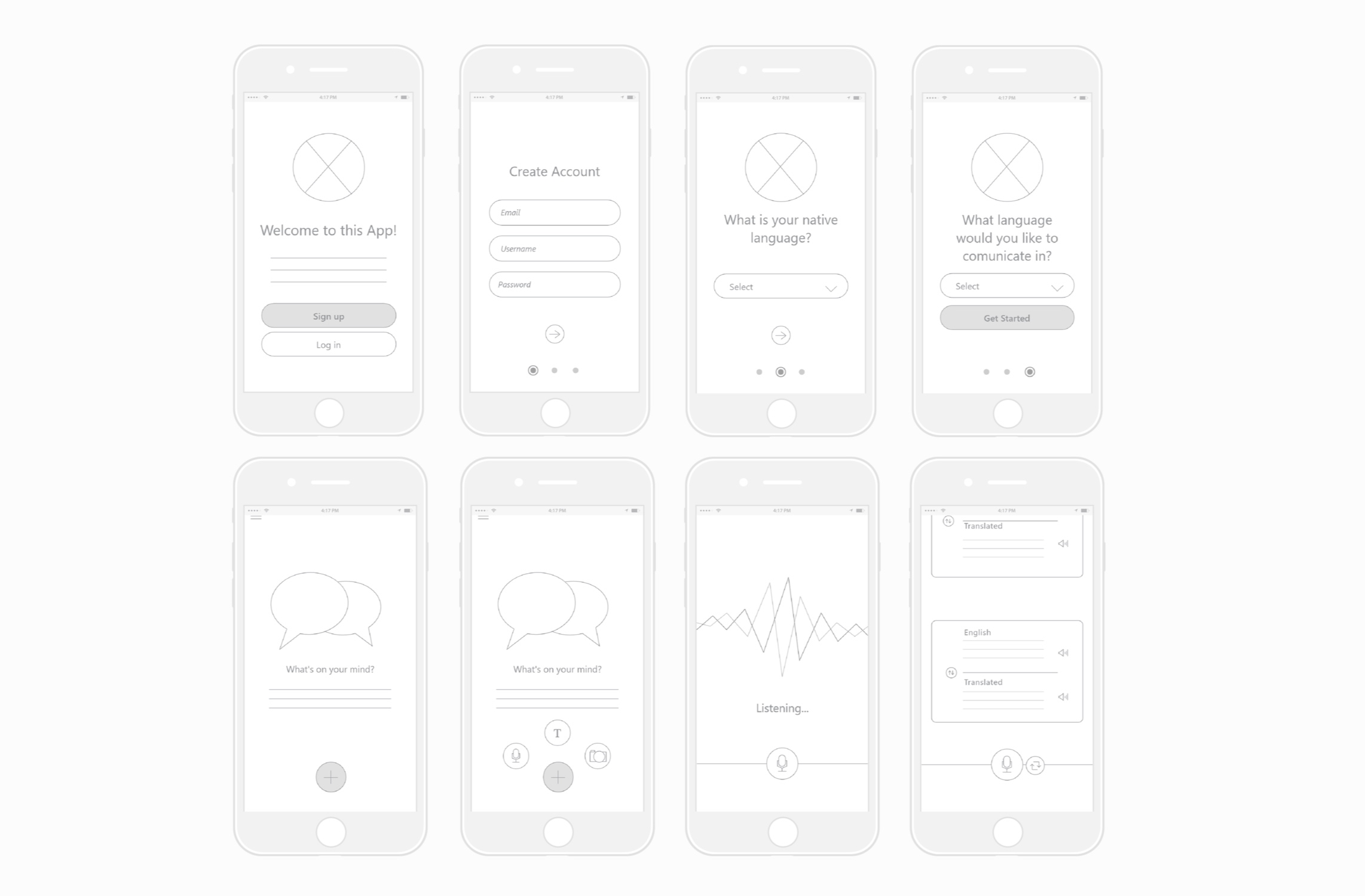 Digital wireframes (click to enlarge).