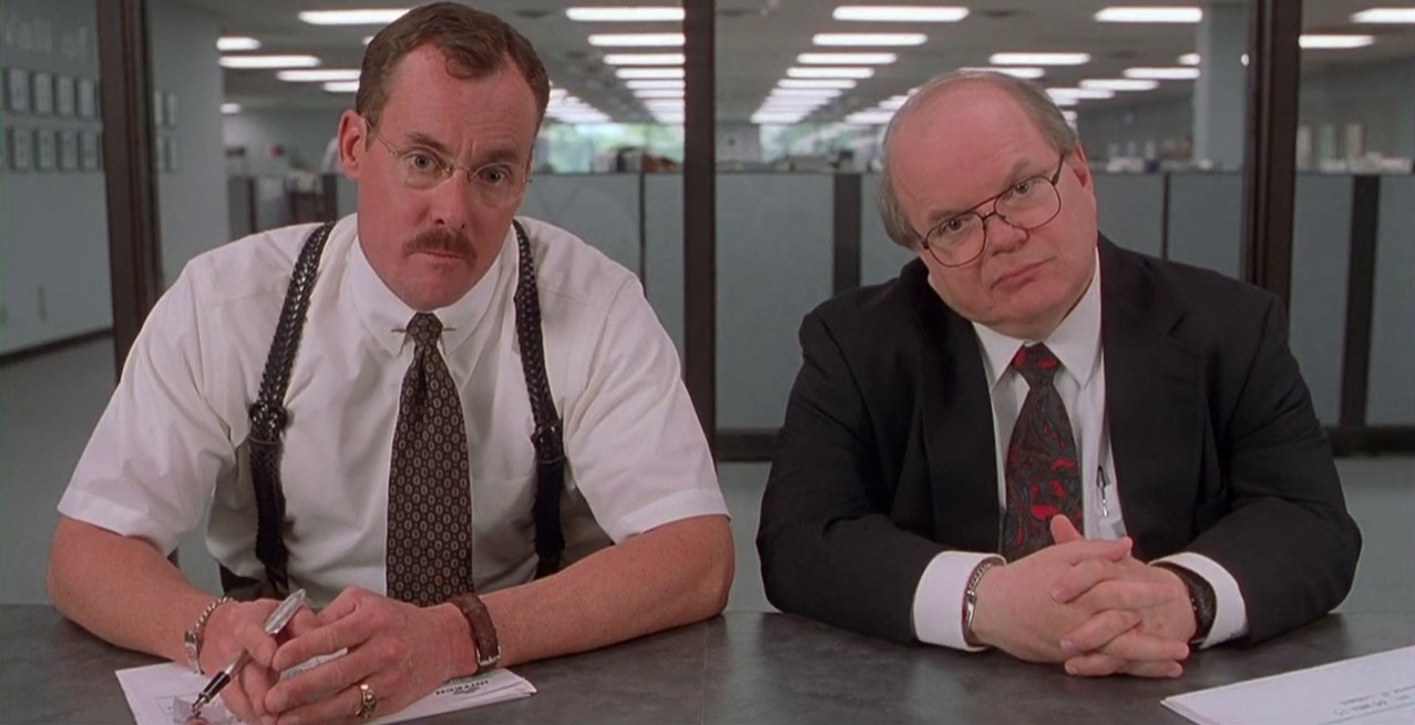 The Bobs, from   Office Space  . Surely you get the reference. 20 years later, and it still holds up.