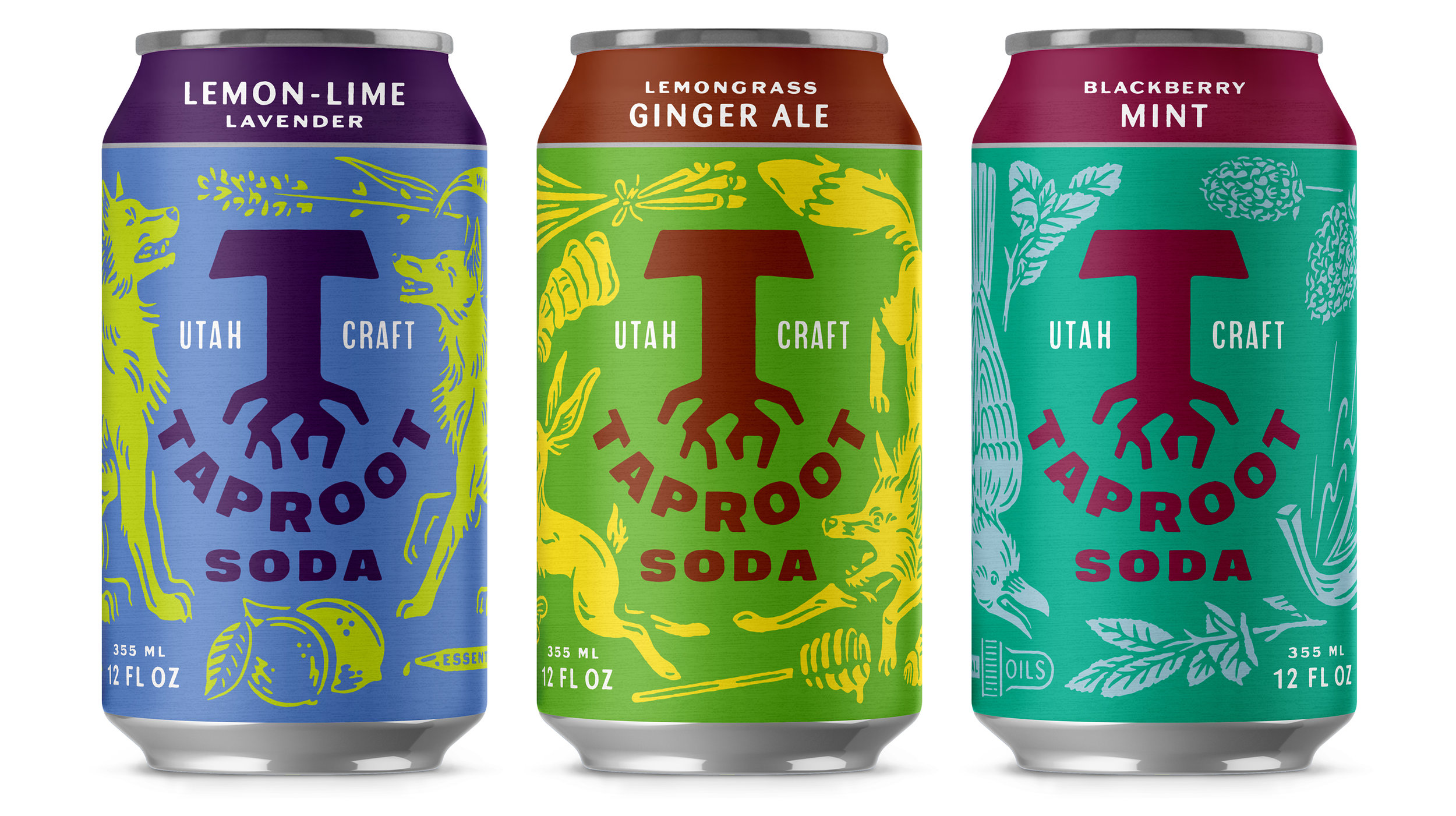 Taproot Soda Core Soda Can Packaging