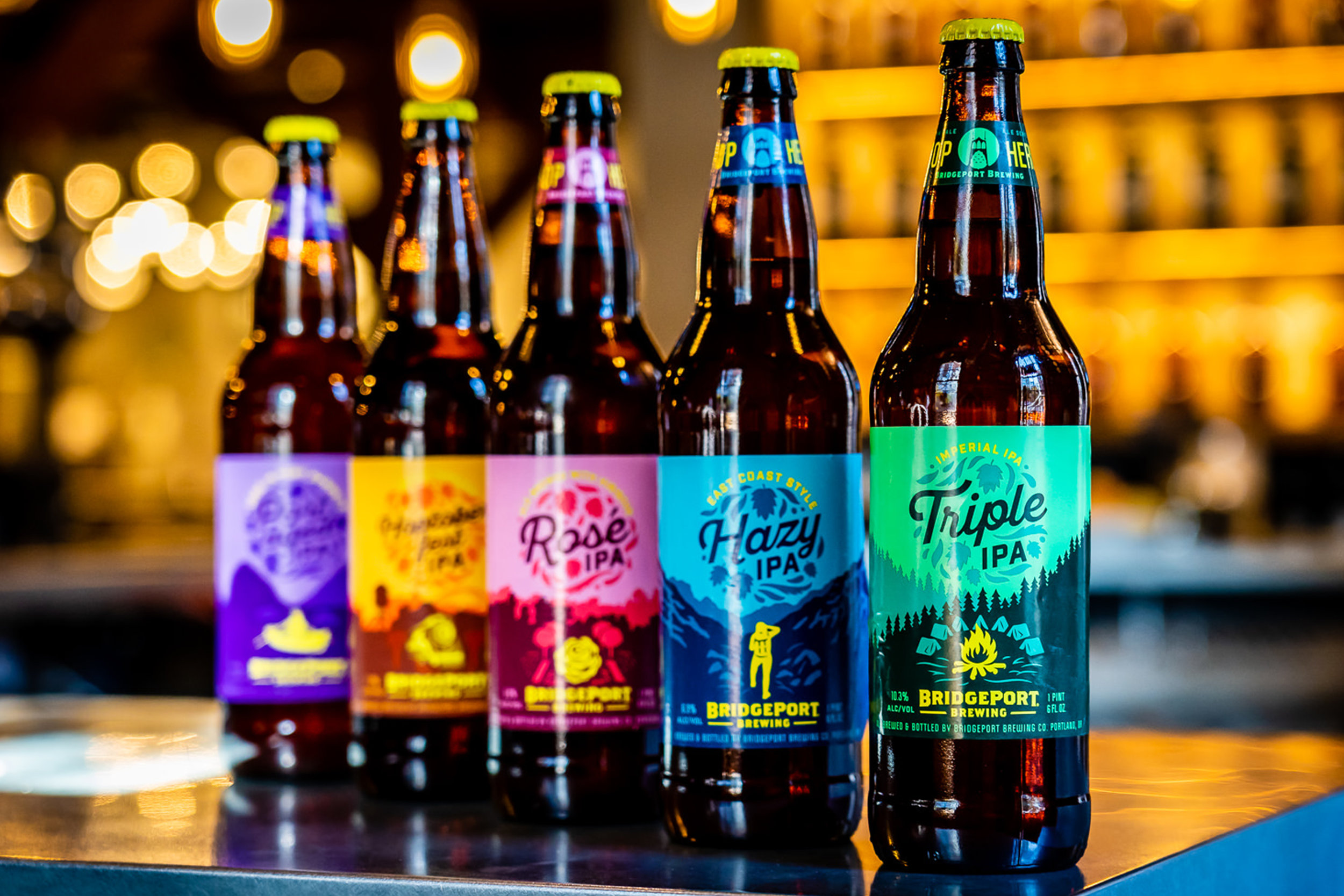 Bridgeport Brewing Hop Hero Series Packaging