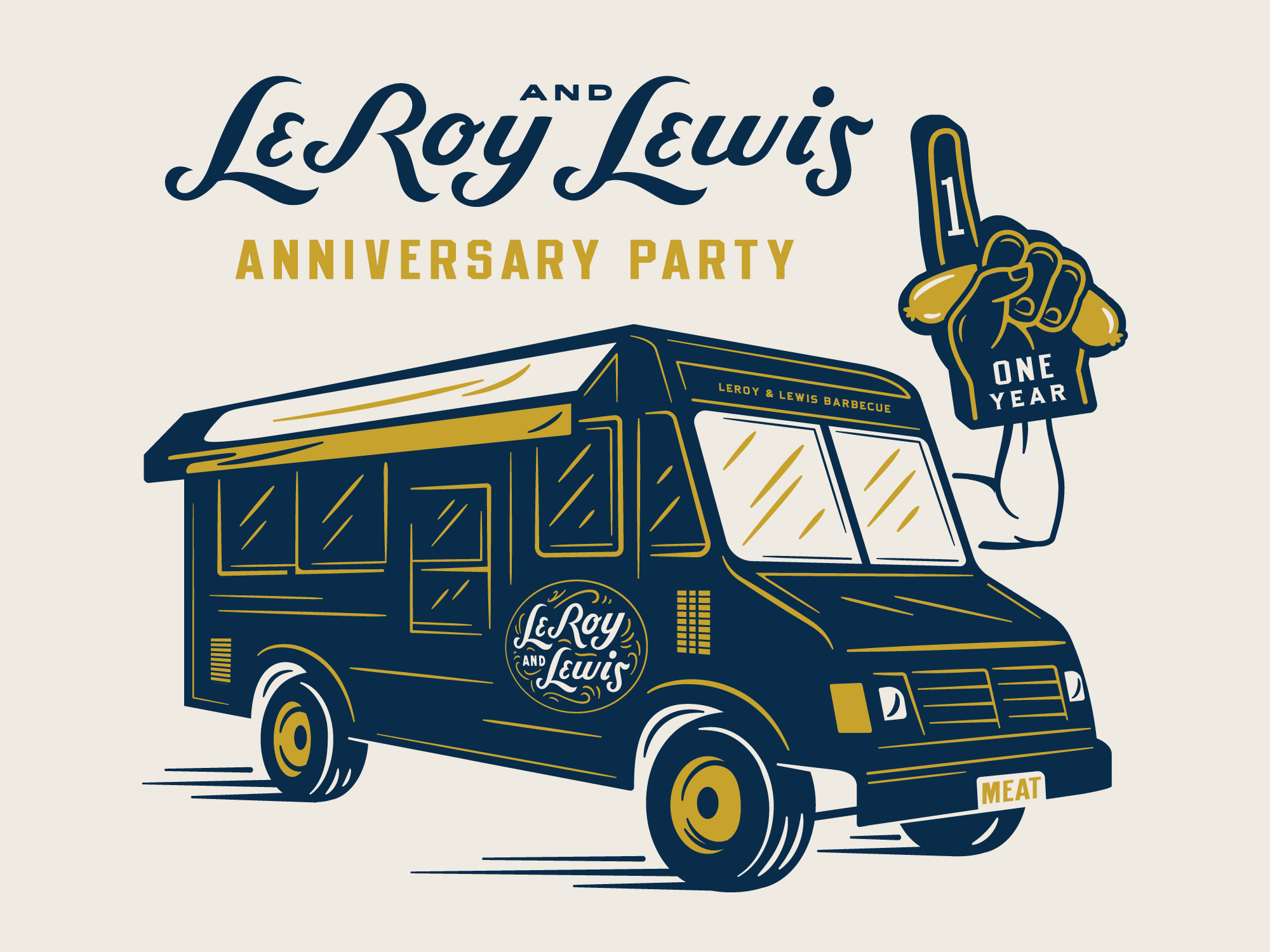 Leroy and Lewis Barbecue Anniversary Artwork