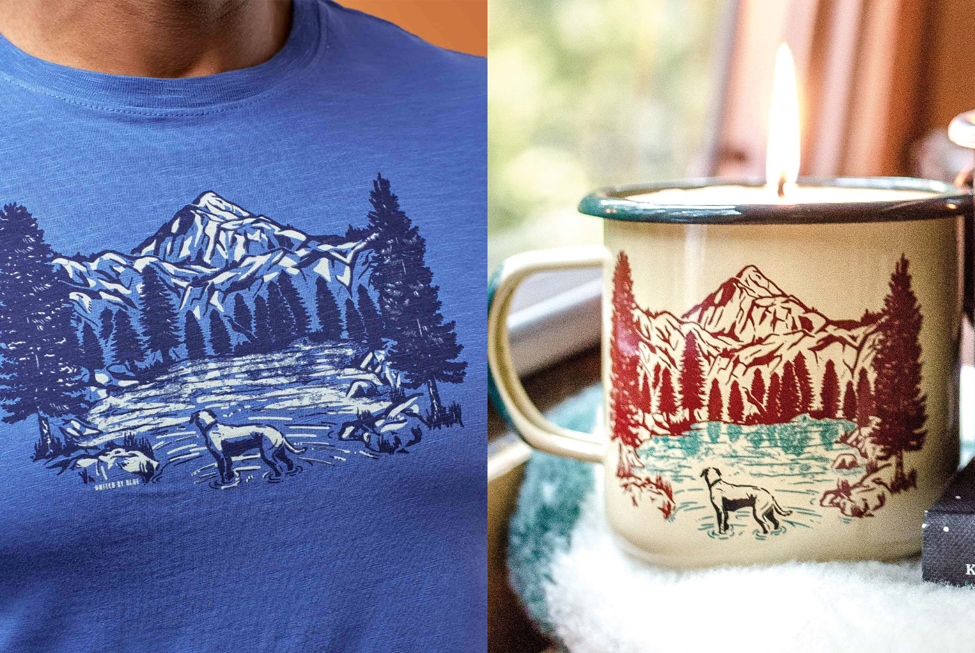 United By Blue Off-Leash Shirt and Candle
