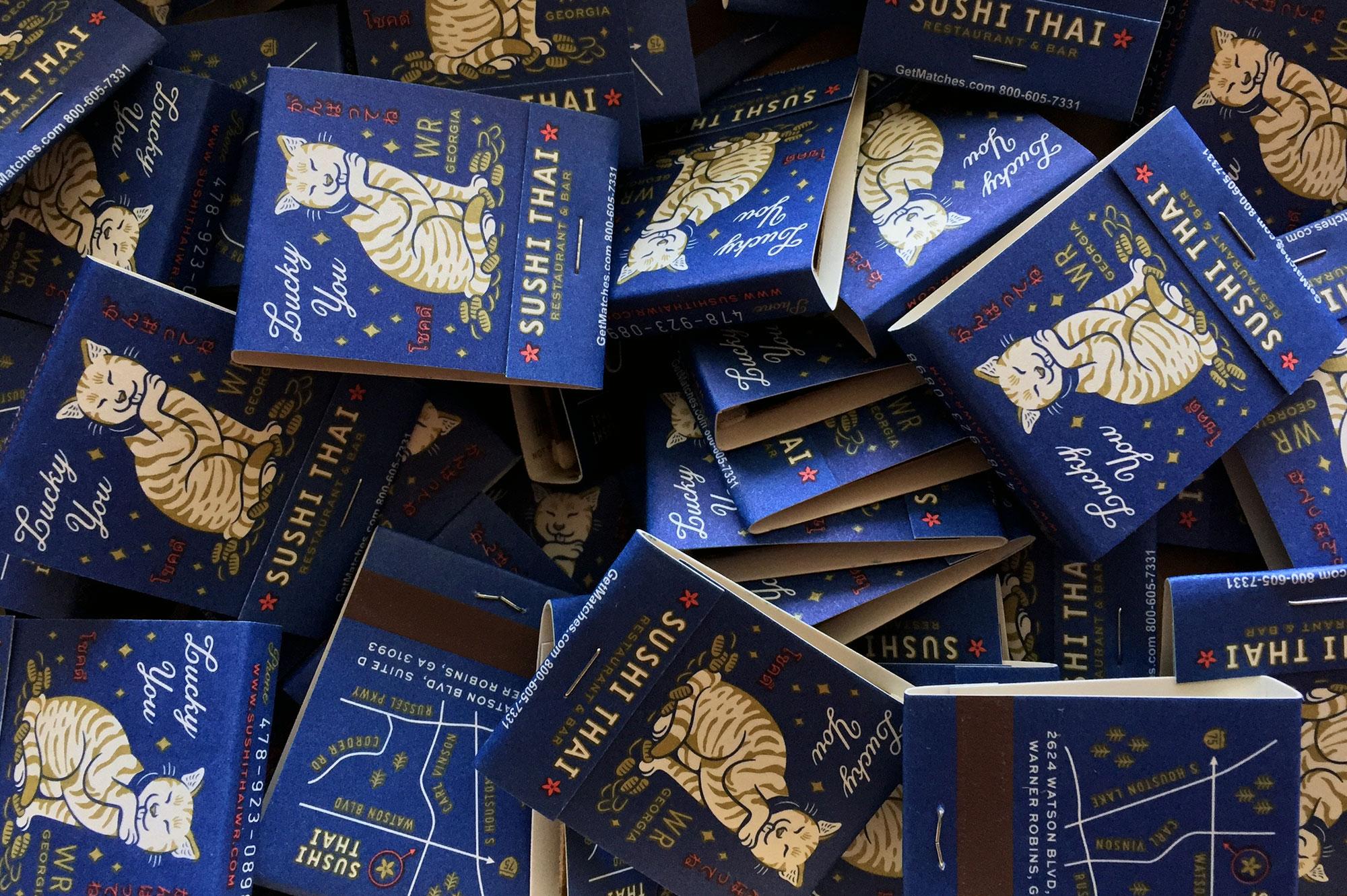 Matchbooks for Sushi Thai Restaurant in Georgia