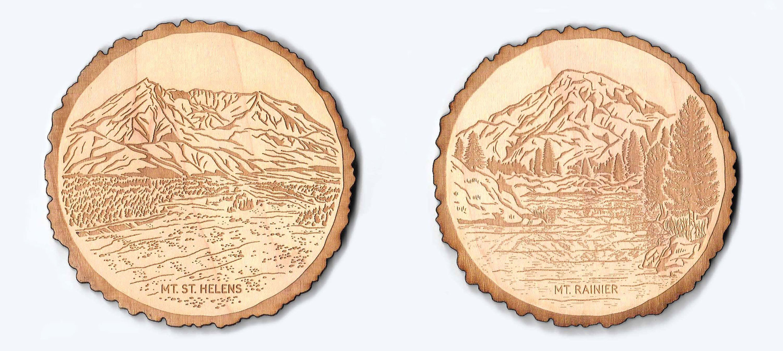 Pacific Northwest Coasters: Mt St Helens and Mt Rainier available  here